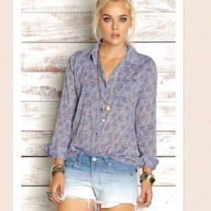 Rails Tops - Rails floral chambray button down