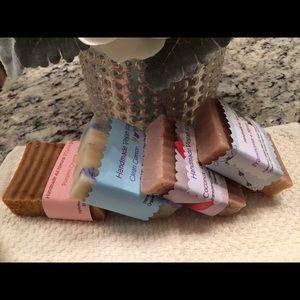 2 vegan natural organic bar soaps 4-5oz