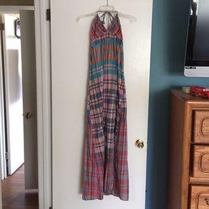 Plaid mossimo maxi dress