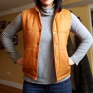 Jackets & Blazers - Vintage buttoned orange vest