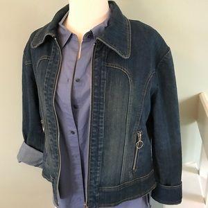 Jackets & Blazers - Dark wash denim jacket.