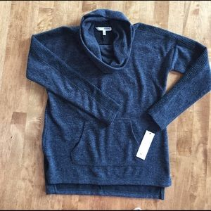 New with tags SONOMA SMOKEY GREY COW NECK SWEATER