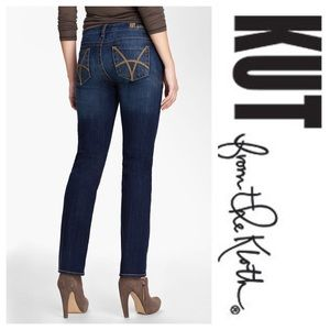 Kut from the Kloth Denim - Stevie Straight Dark Wash Premium Jeans