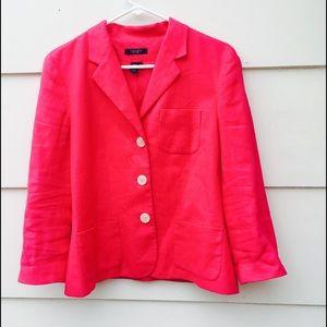 Chaps Jackets & Blazers - Chaps Women's Career Pink Blazer 100% Linen