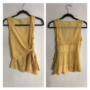 Anthropologie Tops - Odille yellow gingham shirt