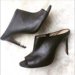 Ann Taylor Shoes - - ANN TAYLOR - Black Mules / Sandals