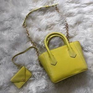 Dagne Dover Handbags - Dagne Dover Chartreuse Mini Purse