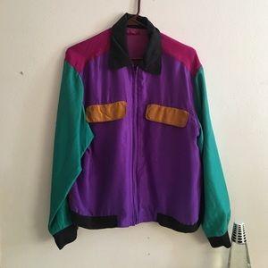 Vintage Jackets & Blazers - •Vintage Retro Color Block Jacket•