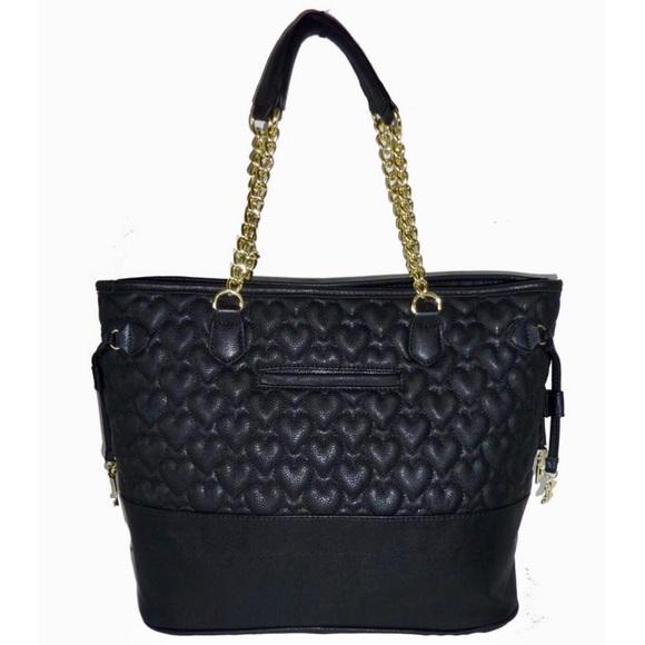 59 Off Betsey Johnson Handbags Black Betsey Johnson