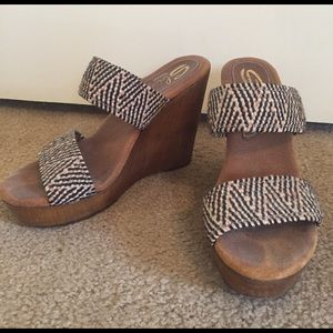 Sbicca Shoes - Sbicca Woven Wedge