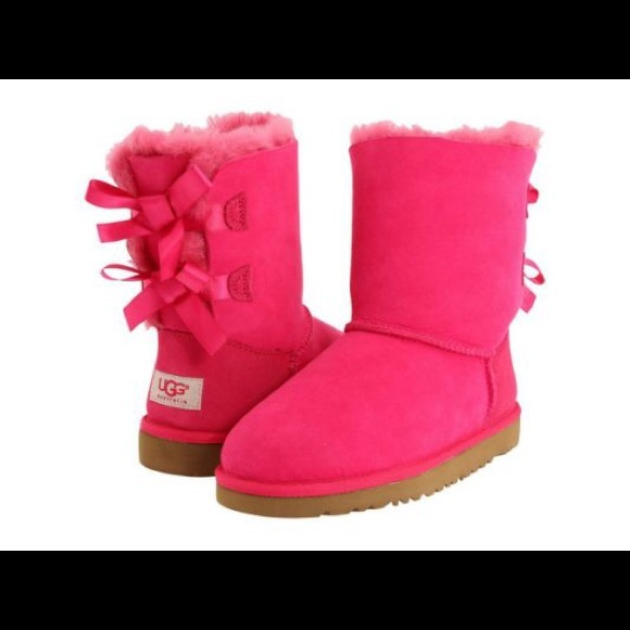 2d29ba6646a New UGG Bailey bow toddler boots cerise