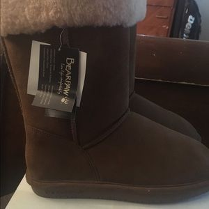 BearPaw Shoes - New with tags Brown Bear paw calf length boots
