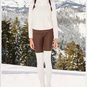ALO Yoga Pants - ALO GODDESS mink/white