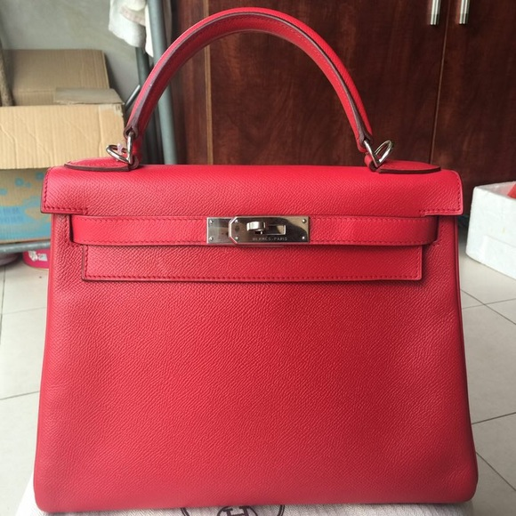 babce6a269ef9 Hermes Bags | Soldauthentic Kelly 28 Epsom Bougainvillea | Poshmark