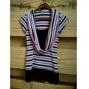 Poof! Tops - Poof! Small Striped Blouse