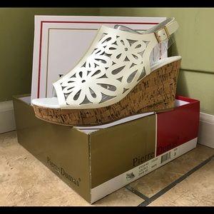 pierre dumas Shoes - Pierre Dumas wedge white sandals platform shoes