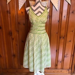 Robbie Bee Dresses & Skirts - Dot and Stripe Fit and Flare Dress