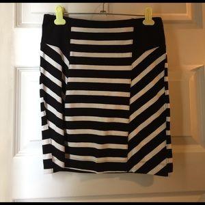 Express high waist black white striped mini skirt