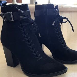 Nasty Gal Shoes - Nasty Gal corset laced black Ankle boots 7.5