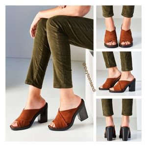Urban Outfitters Shoes - Urban Outfitters Laura Suede Cross Strap Mule