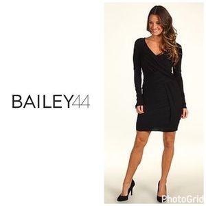 Bailey 44 cross front draped dress - black