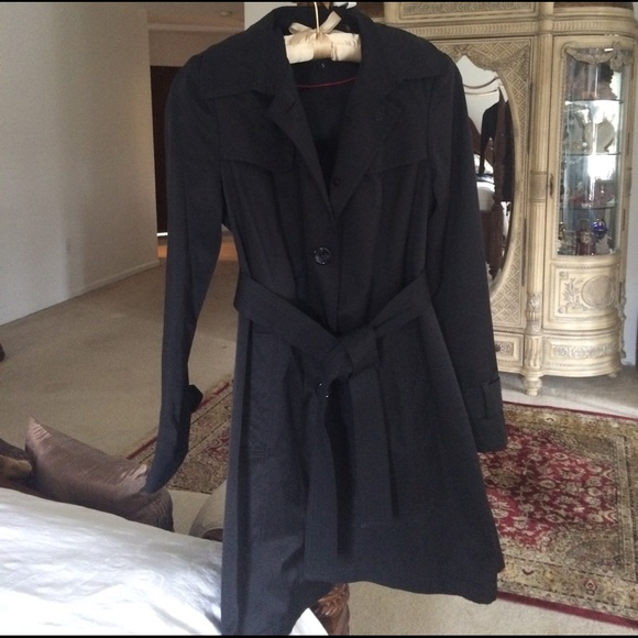 fashion style latest selection dirt cheap DKNY Black trench coat