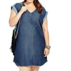 Melissa McCarthy Dresses & Skirts - Denim Shift Dress