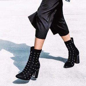 Studded Black Booties