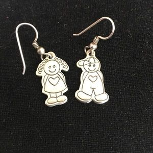 Other - Sterling Silver boy and girl earrings