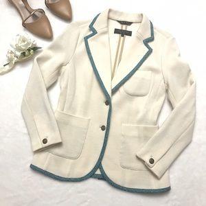 rag & bone Jackets & Blazers - RAG & BONE Bromley Blazer Jacket Natural Blue