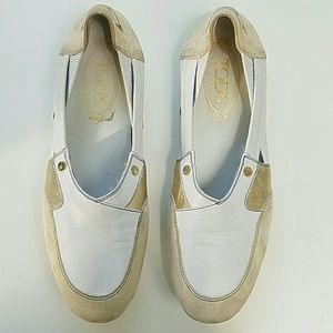 Tod's Shoes - TOD'S Cream/White Flats-Get Ready for Summer