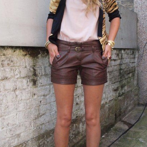 Fossil Pants - Fossil Leather Shorts