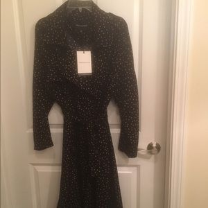 WhoWhatWear Jackets & Blazers - Black soft long jacket with small dot
