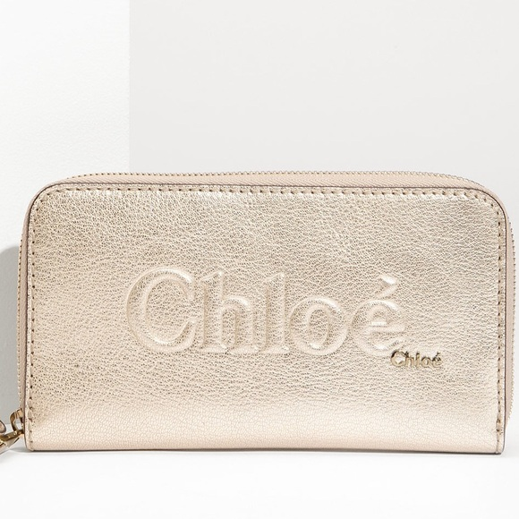 d6756a7fc93d50 Chloe Handbags - NEW YEAR SALE Chloé Shadow Metallic Leather Wallet