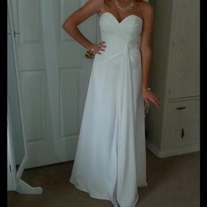 Strapless White Gown