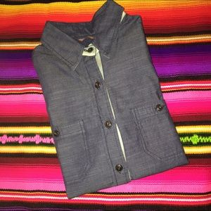 Jachs Tops - Denim long sleeve chambray button shirt