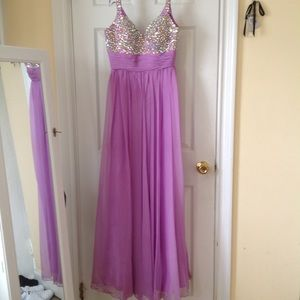 Prom Dress Lavender with Beaded top detail