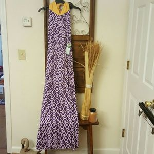 Mud Pie Dresses & Skirts - Boutique dress, purple, white, and yellow