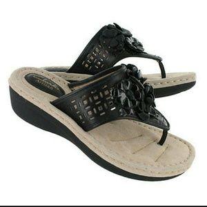 Clarks Shoes - CLARKS Posey Zela BLACK SANDALS