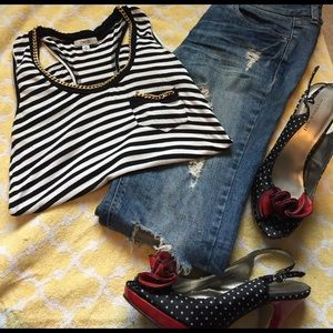 Cache Tops - 🎉‼️ Caché Stripped Shirt! ‼️🎉