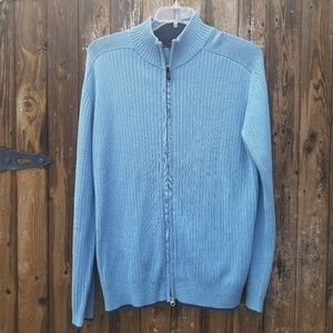 Aigle Other - NWT Aigle Blue Ribbed Zip Front Sweater Cardigan