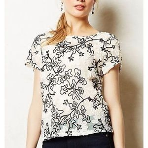 Anthropologie Tops - Anthropologie NWT Cherry Blossom Embroidered Top