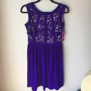 Morgan & Co. Dresses & Skirts - Beautiful Lace Purple/Nude Dress! Size 7/8 - NWT