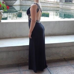 Blondie Nites Dresses & Skirts - Black & Gold one strap prom dress!