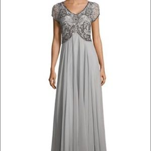 J Kara Dresses & Skirts - Long Grey Dress with beaded top