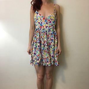 NWT MINKPINK Colorful Floral Skater Dress