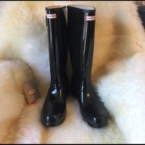 Hunter Boots Shoes - Tall glossy brand new
