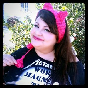 tswcouture Accessories - HOT PINK HANDMADE KITTY EARS HEADBAND
