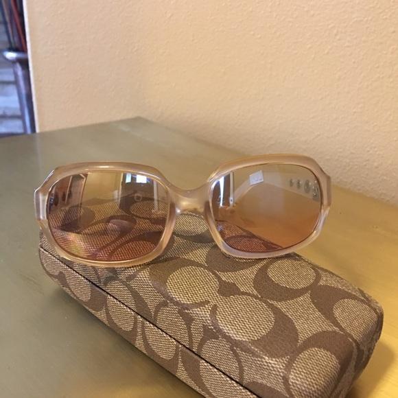 b44e7817be Coach Accessories - Authentic Coach Nude Colored Reflective Sunglasses