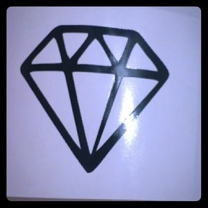 tswcouture Accessories - DIAMOND VINYL CAR OR WALL DECALS 5""